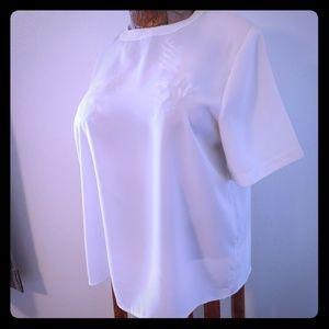 Cream Colored Short Sleeve Shell Shirt